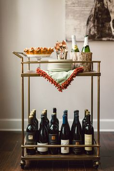 pretty bar cart for the holidays!