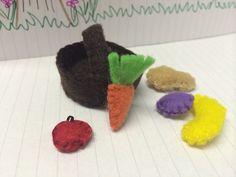 Miniature fruit and veg basket on Etsy, £2.00