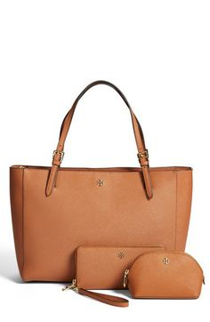 """Tory Burch large bag. Perfect color""""Luggage"""" is the neutral to go with everything in Fall and Spring."""