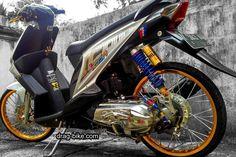 50 Foto Gambar Modifikasi BEAT Kontes Street Racing Jari Jari drag-bike.com Satria Fu, Drag Bike, Street Racing, Honda Cb, Drag Racing, Cars And Motorcycles, Beats, Nct, Vehicles