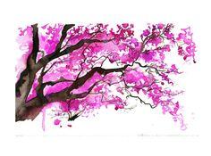 The Cherry Blossom Tree, by Jessica Durrant. #cherryblossom #tree #painting