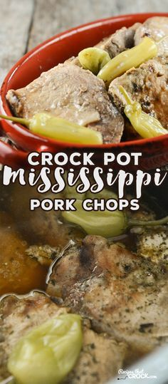 Crock Pot Mississippi Pork Chops