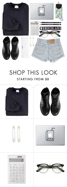 """not the slightest clue."" by zada ❤ liked on Polyvore featuring Kenzo, Levi's, Conair, Kristin Cavallari and Muji"