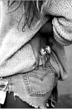 My obsession with oversized sweaters...