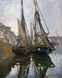 Bateaux de pêche à Honfleur (C Monet - W 116)