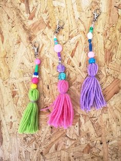 Free tassel keyring drop in mini workshop Saturday January – Made in Ashford January 10, Tassel Necklace, Tassels, Workshop, Drop, Mini, Creative, How To Make, Atelier