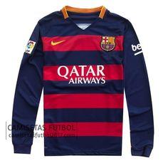 Primera camiseta de manga larga Barcelona 2015 2016 | camisetas de futbol baratas