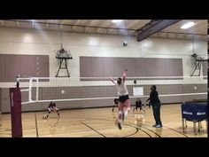 The volleyball hitter has options for scoring against opponents to score points including tipping the ball deep or short in the court to mix up your attack. Volleyball Hitter, Volleyball Training, Volleyball Drills, Coaching Volleyball, Volleyball Positions, Deep, Game, Create, Volleyball Workouts