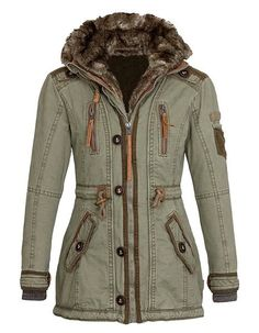 Chic Hooded Long Sleeve Splicing Zipped Decorated Thick Coat For Women