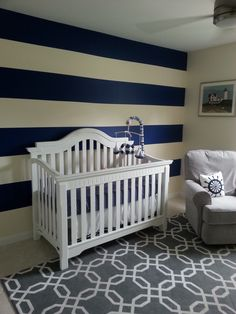 Clean and modern Nautical Nursery