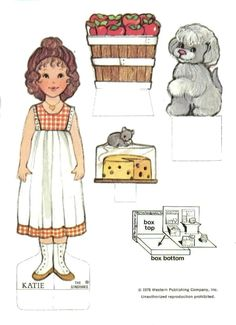 The Ginghams Paper Doll and Playset: Katie's Country Store (2 of 6) | Kathleen Taylor's Dakota Dreams