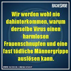 Overmanly virus ... #Spruch #Witz #fun #geklautbeiracheshop #Racheshop