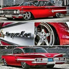 The 1961 Chevrolet Impala was a huge hit when it emerged, but it has also become a cultural icon. When this car Chevrolet Impala, Chevrolet Bel Air, Chevrolet Trucks, Rat Rods, Cars Vintage, Antique Cars, Maserati, Bugatti, My Dream Car