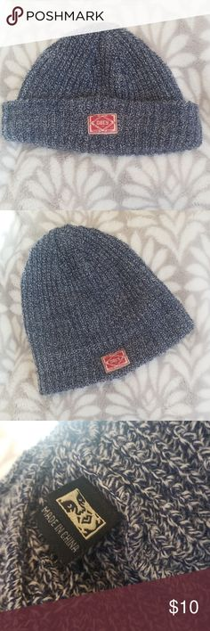 454a0032a01eb OBEY Beanie Blue and white thread Obey beanie with slight wear (as pictured  with light