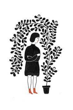 Mystery Girls | Rachel Levit - this type of illustration reminds me of Persepolis