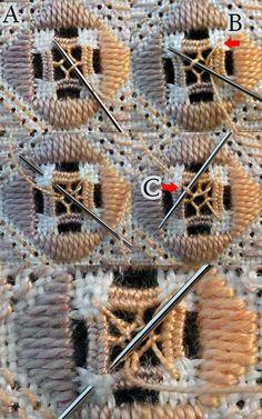 Nutmeg (filling stitch) (for Hardanger) « Save the Stitches!