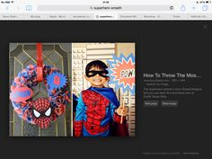 Superhero wreath Cape and mask sets £10 Facemasks £3 Happy customers ;) Hen…