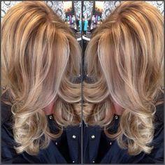 Golden blonde with lowlights by jolene