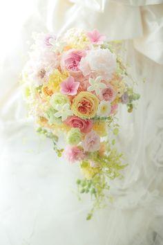 プリザーブドフラワーブーケ 浦安、オリエンタルホテル東京ベイさまへ : 一会 ウエディングの花