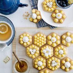 tartelettes sablées alvéolées miel citron meringuées