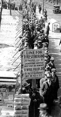 Breadline during the Great Depression -- the fruits of wealth redistribution...