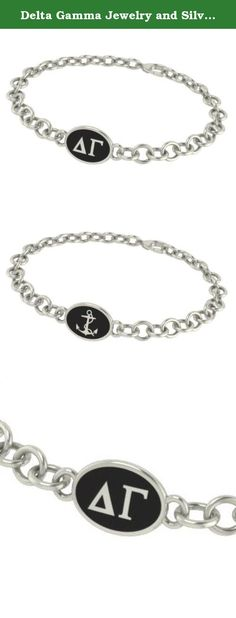 Delta Gamma Jewelry and Silver Bracelets. Our Delta Gamma sorority jewelry and bracelets are made in solid sterling silver with a high quality sterling silver Antiqued charm. Our bracelets have the finest detail and are the highest quality of any Delta Gamma sorority bracelet available. In stock for fast shipping and if for some reason you don't like it? Send the bracelet back for a full refund..... Delta Gamma Silver Jewelry - Silver Link Bracelet.... Metal: Sterling Silver…