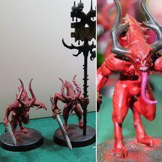 Warhammer 40k Daemons of Khorne Bloodletters 10 AoS Age of Sigmar Chaos Daemon