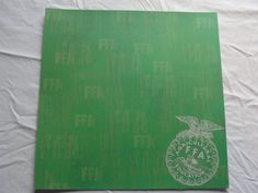 FFA Green background 12x12 scrapbook paper by CraftsNextDorr on Etsy