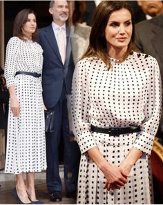 King Felipe and Queen Letizia of Spain attended the official opening ceremony of the International Congress of Spanish Language at… Queen Letizia, Spanish Language, Royal Fashion, Opening Ceremony, Day Dresses, My Photos, Royalty, Shirt Dress, Stylish
