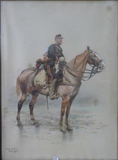 Cavalier de l'armée française en sentinelle
