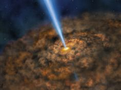Illustration of Cool Dust Around an Active Black Hole #NASA Image of the day #photograhpy #photooftheday