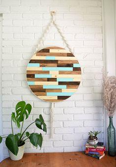 Rustic Wall Art, Wooden Wall Art, Wood Wall, Wood Mosaic, Mosaic Art, Wood Artwork, Reclaimed Wood Art, Diy Wood Projects, Hanging Wall Art