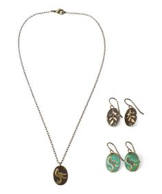 Song Bird DIY Necklace & Earrings Kit | something special every day #vintaj #sizzix #emboss #rangerink #patina #jewelrymaking Zulily event ends Sunday, April 20