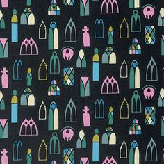 """PWAH098.MIDNI Anna Maria Horner Fibs & and Fables Escape Midnight Windows Quilting 18"""" BTHY Rowan Westminster Half Yard 18"""" Quilt Fabric HY by KinshipQuilters on Etsy"""