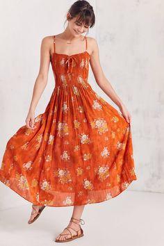 a505845708 Kimchi Blue Gauzy Smocked Midi Dress