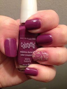 Maybelline colorama Noite Quente+ l'oreal color riche 104+ stamping