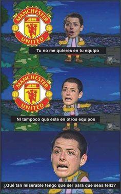 Futbol de Locura: Meme del Día: La situación del Chicharito en el Manchester