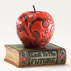 Jim Shore apple & book