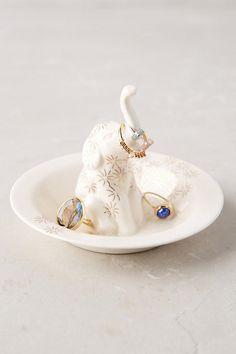 Bathing Elephant Trinket Dish