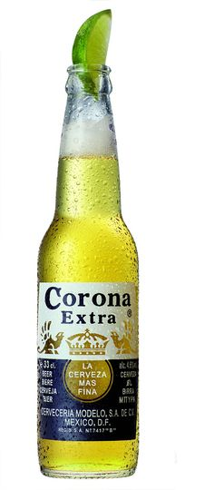 Corona Extra is a pale lager produced by Cervecería Modelo in Mexico. It is one of the top-selling beers worldwide. Corona is commonly served with a wedge of lime in the neck of the bottle to add tartness and flavor. Alcoholic Drinks, Beverages, Cocktails, Party Drinks, Party Favors, Corona Extra, Beers Of The World, Horchata, Wine And Beer