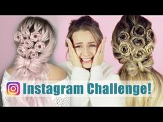 Instagram Hair Challenge: I Turned My Hair Into a Viral Flower Bouquet Hairstyle!! - KayleyMelissa - YouTube