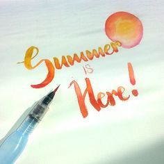Summer is finally here!  Products used: Pentel Aquash and Pentel Dual Metallics