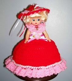 Free Crochet for Air Freshener   Valentine Crochet Air Freshener T P Cover Doll New   eBay