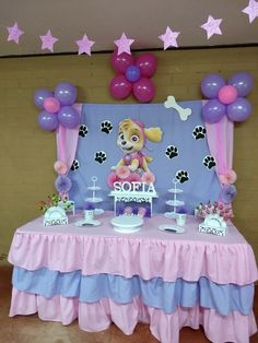 62 Ideas for birthday cake girls kids paw patrol Birthday Cakes Girls Kids, 2 Birthday, 3rd Birthday Parties, Girl Paw Patrol Party, Paw Patrol Birthday Girl, Paw Patrol Party Decorations, Birthday Decorations, Fete Audrey, Skye Paw Patrol Cake