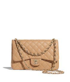 Discover the CHANEL Grained Calfskin & Gold-Tone Metal Beige Large Classic Handb. - Discover the CHANEL Grained Calfskin & Gold-Tone Metal Beige Large Classic Handbag, and explore the - Popular Handbags, Cheap Handbags, Purses And Handbags, Cheap Purses, Fabric Handbags, Unique Purses, Cheap Bags, Chanel Handbags 2017, Fashion Handbags
