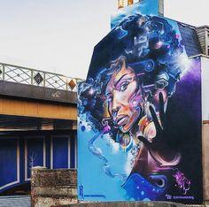 Mural by mrcenzone in  Brixton