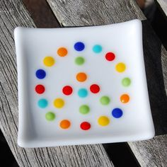 Peace Sign Trinket Dish  Little Fused Glass by FirstLightGlass, $15.00