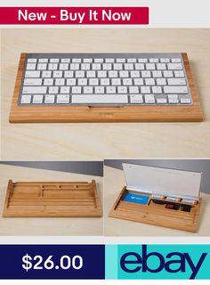 Bamboo Wireless Magic Keyboard Stand Dock Holder Stents Keyboard Tray Seat