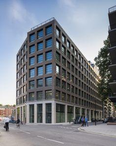 1 Page Street - Properties - Derwent London Factory Architecture, Architecture Collage, Facade Architecture, Facade Design, Exterior Design, Scotland Street, Westminster Bridge, Flatiron Building, Brick Facade