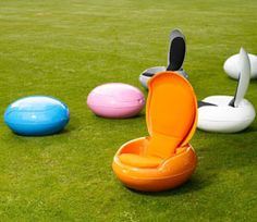 Garden Egg Chair - they look like M&M's